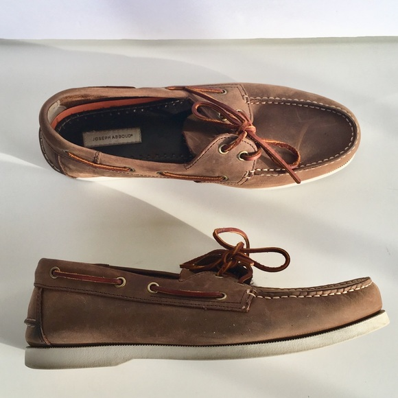 80930a61973 Joseph Abboud Brown Nubuck Boat Shoes